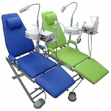 New Updated Dental Mobile Chair Unit + Turbine Unit + LED Lamp + Waste Basin