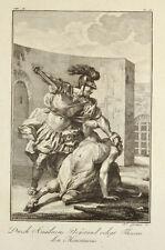 1791 Ovid Metamorphosen Theseus und Minotauros Minotaurus Kupferstich von Grüner