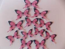 50 PRETAGLIATE Commestibile PinkB wafer/carta di riso Farfalle torta/