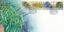 Pitcairn Islands 2012 FDC Fluted Giant Clam 4v Cover Tridacna Squamosa WWF