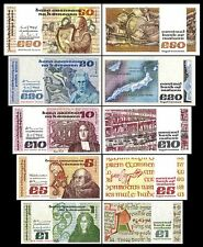 * * * 1,5,10,20,50 Irish Pounds - Issue 1976 - 1993 - 5 Banknotes - 02 * * *