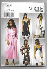 Vogue V9015 14-22 Sewing Pattern Ladies Nightgown & Robe Set Long & Short