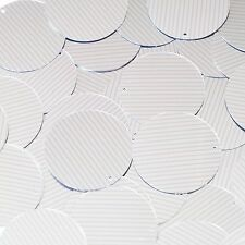 Sequin Round 30mm Pink Silver Pinstripe Metallic Couture Paillettes