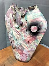 MICHAEL ANTHONY CERAMIC POTTERY VASE 11X10X3 inch Excellent Condition