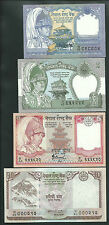 NEPAL 1, 2, 5, 10 Rupees Banknotes Set UNC