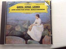 Grieg: Songs/Lieder- Anne Sofie Von Otter - DG Digital in Excellent Condition