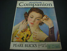 Woman's Home Companion Magazine, October 1936, Pearl S. Buck Great Cover Art