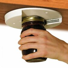 EZ OFF JAR LID OPENER GRIPPER Seniors w/ Arthritis ~ Under Cabinet Counter