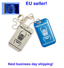 NEW BLUE QR code Geocaching Travel Bug trackable Travelbug Dog Tag Unactiv
