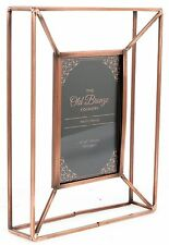 Old Bronze Foundry Copper Style Wire Box Frame ~ Freestanding Photo Frame 4 X 6