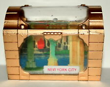 Vtg NYC New York City Empire State Statue Liberty Treasure Chest Water Globe NOS