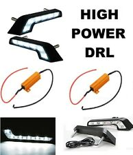 MERCEDES STYLE L SHAPE DAYLIGHT DRL 6 LED UNIVERSAL MERC FIT WHITE 6000K