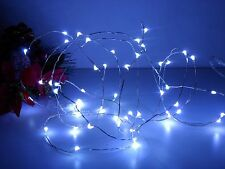 54 LED Micro White Rice Battery Wire String Chain Fairy Wedding Christmas Lights