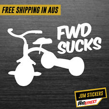 FWD SUCKS JDM CAR STICKER DECAL Drift Turbo Euro Fast Vinyl #0192