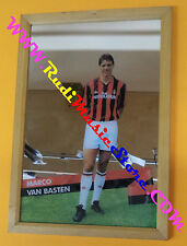 Specchio mirror MARCO VAN BASTEN anni 80 23x33cm vintage MILAN calciatore calcio