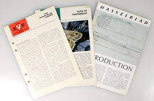 HASSELBLAD INFO BOOKLETS, SET OF 3
