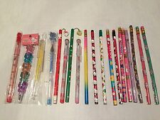19 NEW Vintage Hello Kitty Twin Stars Tuxedo Sam Pencils Pens 80s 90s Sanrio Lot