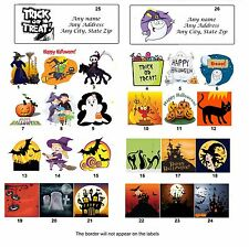 30 Personalized Return Address Labels Halloween Buy 3 get 1 free (ha1)