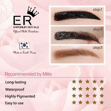 MILLE 6D TATTOO EYEBROW LINER GEL WATERPROOF COSMETI - LIGHT BROWN , NEW
