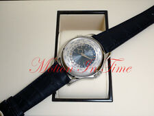 Patek Philippe 5130P-001 World Time Platinum 39.5mm 24 TimeZone Transparent Back