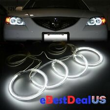 FOR 2004-2008 Mazda 3 Sedan Hatchback 7000k White CCFL Angel Eyes Halo Ring Kit
