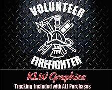 Volunteer Firefighter *  Vinyl Decal Sticker Car Truck Family Dad Diesel 1500