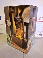 *NEW IN BOX* Slate Tower Fountain, Warm LED Illumination, Cordless, Battery pwr