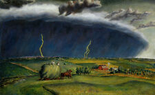 Line Storm   by John Curry Giclee Canvas Print Repro