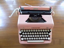 Vintage Pink Royal Quiet De Luxe Portable Typewriter