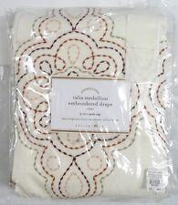 "POTTERY BARN Talia Medallion Embroidered 108"" Drape Panel, WARM, NEW"