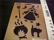 Halloween Stencil Cats Witch Broom by Plaid Simply Stencils  NEW