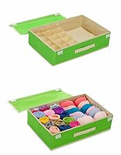 KARP 15 + 1 Multi Compartment Cells Drawer Dividers Closet Organizers-Green