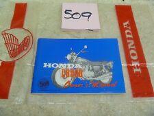 Honda 500 Four CB CB500 K1 Used Original Owners Manual 1972 #VP-MAN509