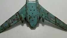 VINTAGE TIN METAL TOY JET AIRPLANE AIRCRAFT RARE RUSSIAN USSR COMMUNIST ERA