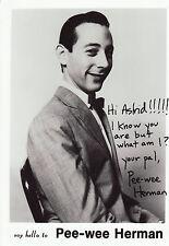 Pee-wee Herman Originalautogramm auf Großfoto