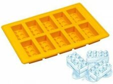 10 Lego Shape Ice Bricks Cube Cubes Silicone Tray Mold Mould Fridge Freezer New