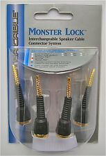 Monster Lock Flex Tip Modular Speaker Cable Termination 4pcs z2 bi-wire biwire