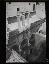 Glass Magic Lantern Slide RUINS AT PATMOS C1910 GREECE
