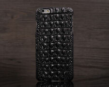 Black i7 4.7 Genuine Siamese Crocodile Back Skin Leather Case Cover for iPhone 7