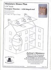 Dollhouse Plans: Georgian Mansion 1/24 scale front opening design JM