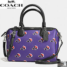 NWT Coach Mini Bennett Satchel Shoulder Crossbody Bramble Rose Floral F55464