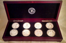 Set of 8 British One Crown Coins Commemorate Prince William, Kate & Son George