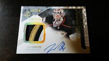 2013-14 SP AUTHENTIC LIMITED JOHN GIBSON Rookie #296 4BRK Patch Auto 60/100 (C)