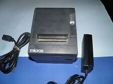 MICROS Epson TM-T88III M129C Thermal POS Receipt  Printer with Power Supply IDN