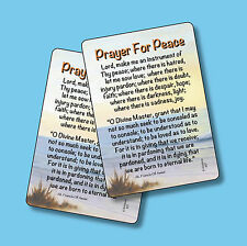 """Prayer For Peace"" - St. Francis of Assisi Prayer - 2 Verse Cards - SKU# 507"