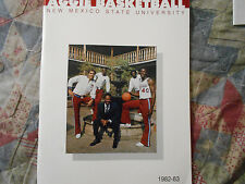 1982-83 NEW MEXICO STATE AGGIES BASKETBALL MEDIA GUIDE Yearbook NM Book 1983 AD