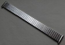New Mens Expansion Stainless Steel 18-21mm Frosted 1960s Silver Tone Watch Band