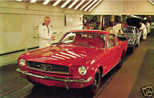 1965 Ford Mustang Fastback, RED, Factory Assembly Line, Refrigerator Magnet