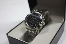 BVLGARI Model BB42SSCH Chronograph Automatic Stainless Steel Watch Black Dial
