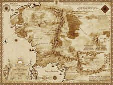 Map of Middle Earth The Lord of the Rings 32x24 Map Poster